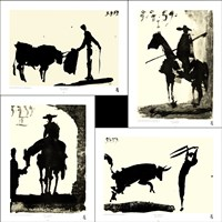 Picasso's Bullfight Set (set of four prints each 14.5 x 19.5) Fine-Art Print