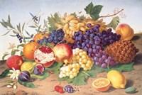 Still Life of Grapes, Pineapple, Figs Fine-Art Print
