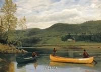 Men in Two Canoes Fine-Art Print