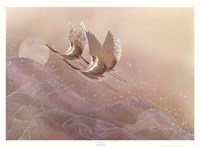 Cranes Over Waves Fine-Art Print
