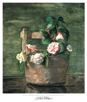 Camellias & Roses in Japanese Vase Fine-Art Print