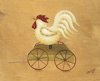 Rooster Pull Toy Fine-Art Print