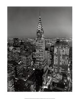 New York, New York, Chrysler Building at Night Fine-Art Print