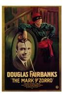 The Mark of Zorro Douglas Fairbanks Wall Poster