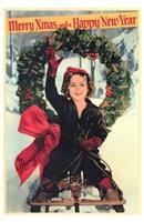 Shirley Temple Christmas Greeting Wall Poster