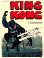 King Kong on top of Empire State Building Wall Poster