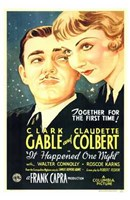 It Happened One Night Gable And Colbert Wall Poster