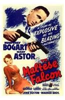 The Maltese Falcon Bogart Astor Wall Poster