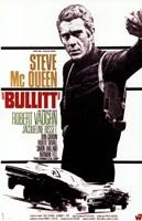 Bullitt Steve McQueen Wall Poster