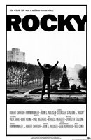 Rocky Black and White Wall Poster