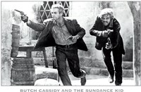 Butch Cassidy and the Sundance Kid B&W Screen Shot Wall Poster