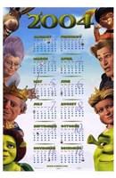 Shrek 2 Calendar 2004 Wall Poster