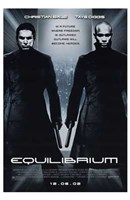 Equilibrium Black and White Wall Poster