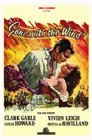 Gone with the Wind Yellow Border Wall Poster
