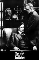 The Godfather B&W Scene Wall Poster