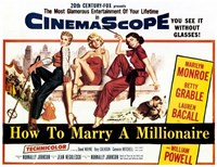 How to Marry a Millionaire, c.1953 - style A Fine-Art Print
