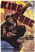 King Kong Grabbing Airplane Wall Poster