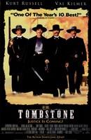Tombstone Black Background Fine-Art Print
