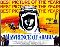 Lawrence of Arabia Best Picture of the Year Yellow Wall Poster