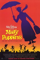 Mary Poppins Silhouette Wall Poster