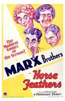 Horse Feathers With The Marx Brothers Wall Poster