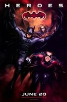 Batman and Robin Heroes Wall Poster