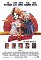 Mars Attacks Movie Wall Poster