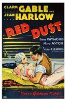 Red Dust Gable and Harlow Film Wall Poster