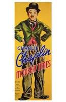 Modern Times Bowler Hat Charlie Chaplin Tall Wall Poster