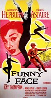 Funny Face Astaire Hepburn Wall Poster