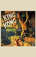 King Kong Running People Wall Poster