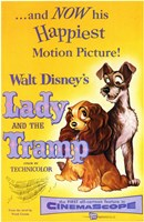 Lady and the Tramp Happiest Motion Picture Wall Poster