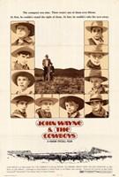 Cowboys & John Wayne Wall Poster