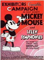 Mickey Mouse and Silly Symphonies Wall Poster