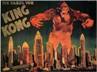 King Kong City Skyline Wall Poster