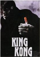 King Kong Close Up Holding Wall Poster