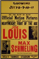 Joe Louis and Max Schmeling Wall Poster