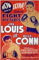 Joe Louis Vs Billy Conn Wall Poster