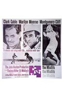 The Misfits Clark Gable Marilyn Monroe Montgomery Cliff Wall Poster