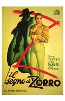 The Mark of Zorro (spanish) Wall Poster