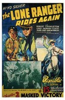 The Lone Ranger Rides Again Masked Victory Wall Poster