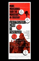 Frankenstein Must Be Destroyed Monstrous Wall Poster