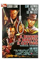 The Good  the Bad and the Ugly Italian Wall Poster