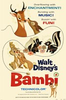Bambi Enchantment Music Fun Wall Poster
