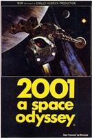 2001: a Space Odyssey Spaceshuttle Wall Poster