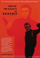 Steve McQueen as Bullitt Wall Poster