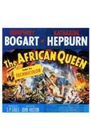 The African Queen Humphrey Bogart & Audrey Hepburn Wall Poster
