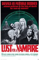 Lust for a Vampire Wall Poster