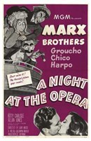 A Night At the Opera Marx Brothers Wall Poster