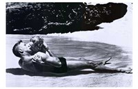 from Here to Eternity - black and white Wall Poster